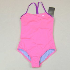 NWT NIKE Solid Racerback 1-Piece Swimsuit G (7-17)